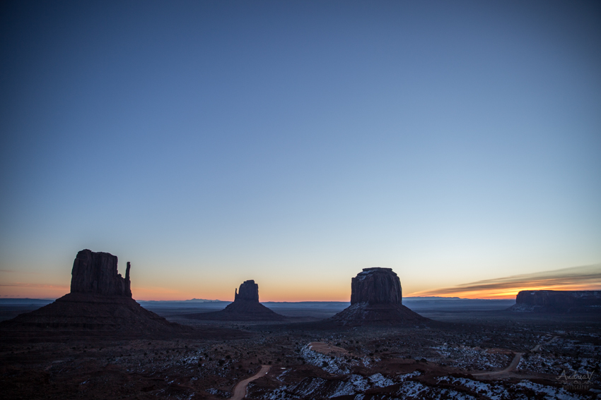 Before sunrise Monument Valley